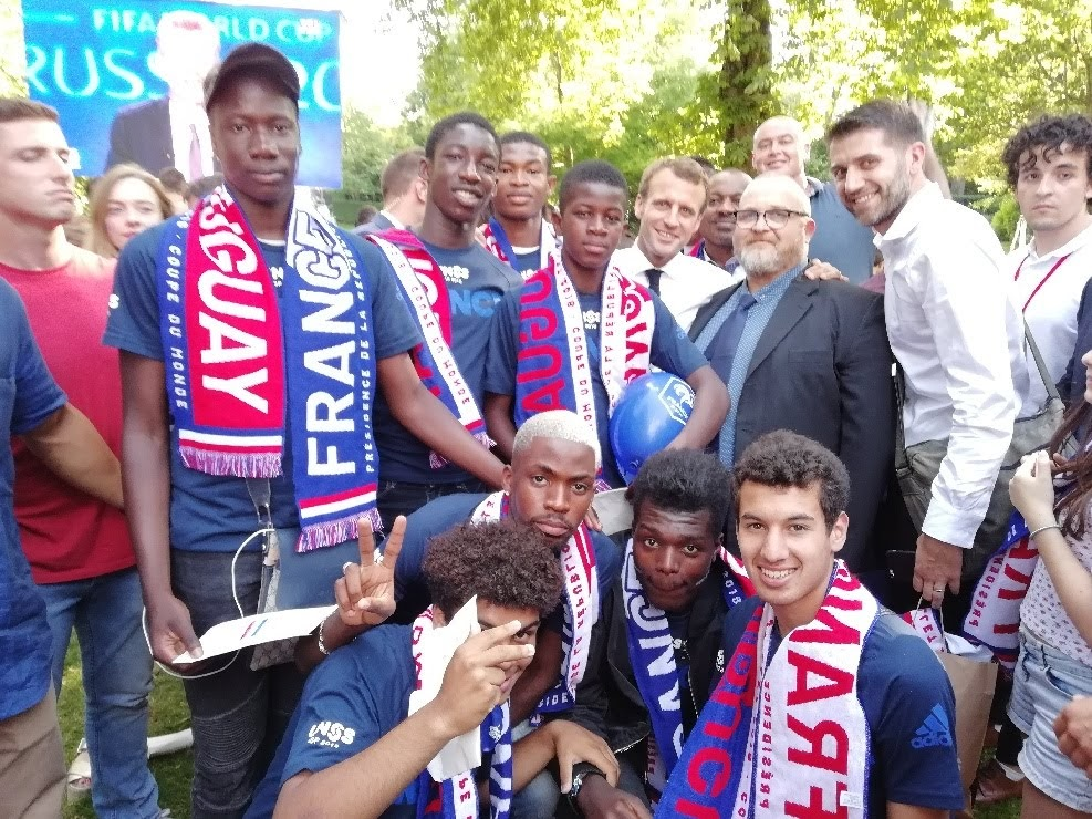 L'association sportive football à l'Elysée