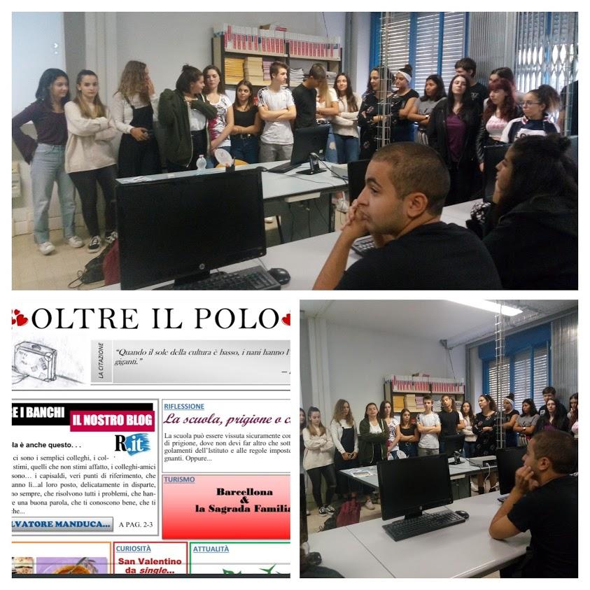 Les Esabac, correspondants du journal scolaire «Oltre il polo»