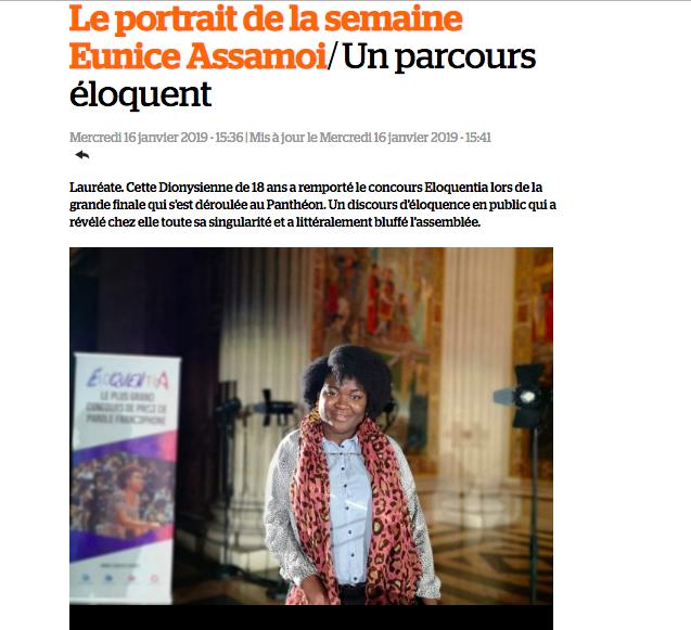 Eunice Assamoi : Un parcours éloquent (JSD)