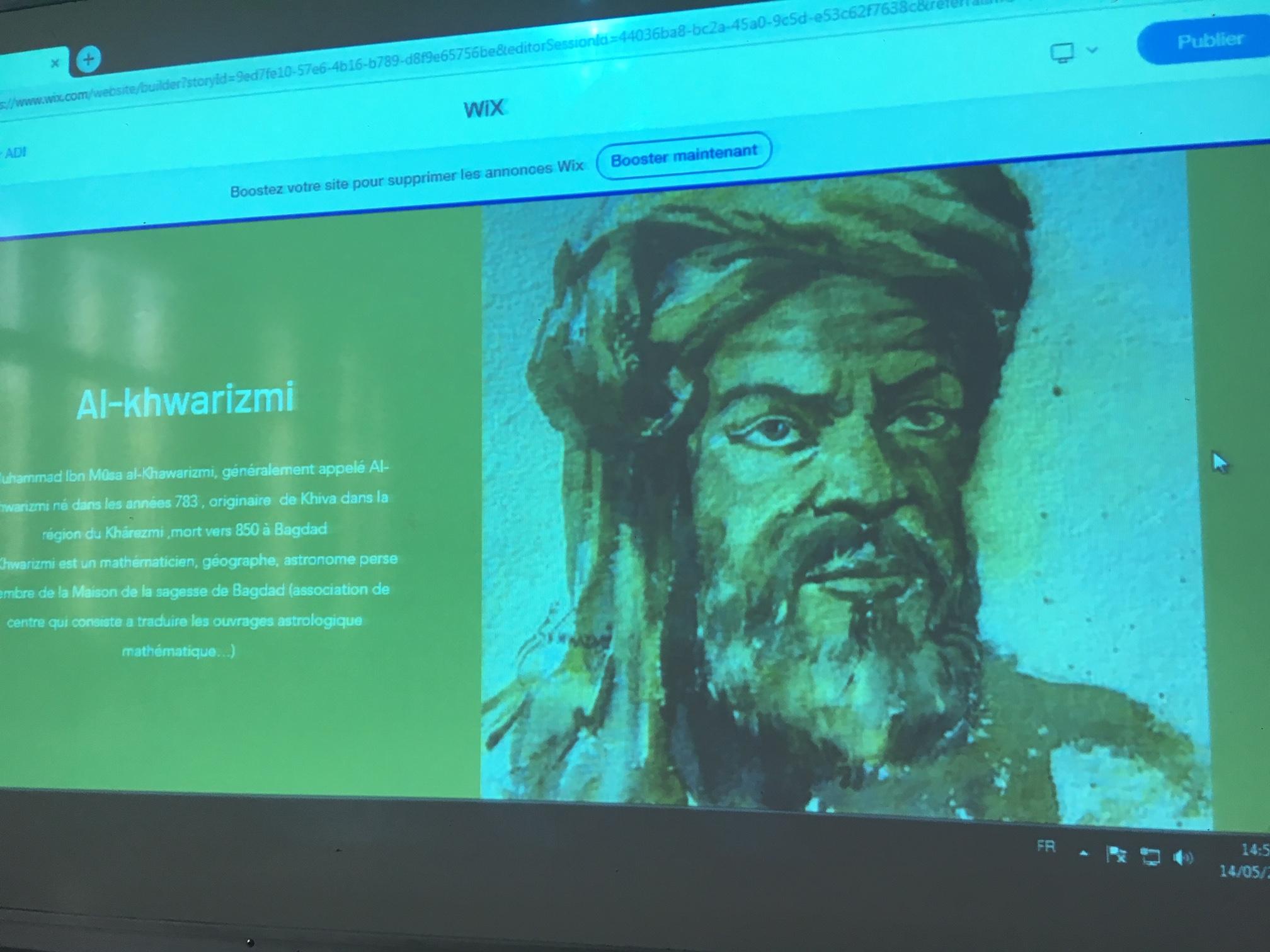 Les 1ere S présentent leurs exposés sur les sciences arabes