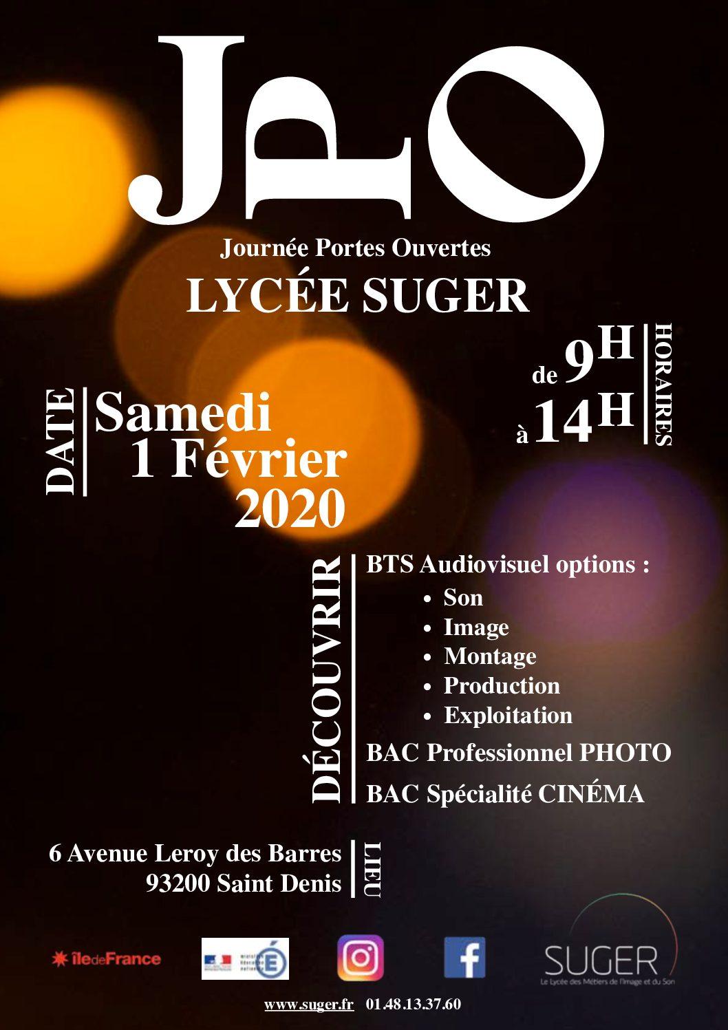 JPO du BTS Audiovisuel / Bac Pro photo / Option Cinéma Audiovisuel, le 1er février 2020