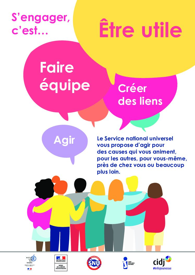 Le service national universel : clôture des inscriptions le 03 avril