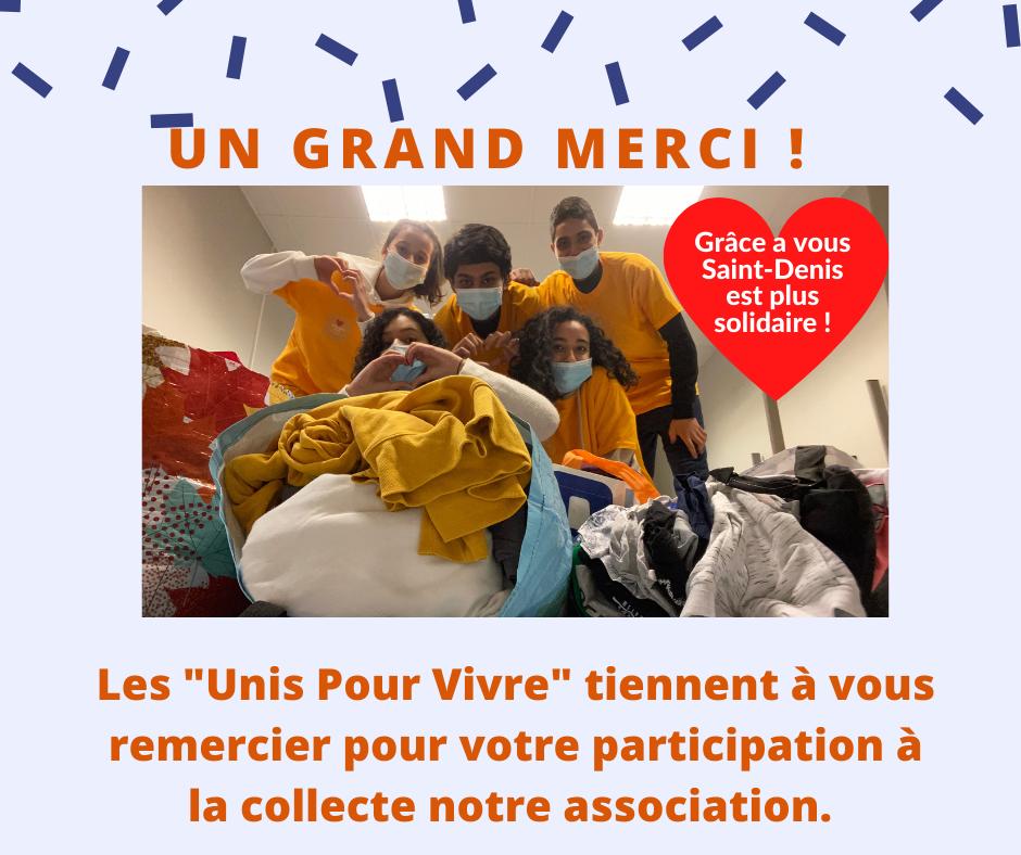 Succès pour la collecte vêtements d'Unis pour Vivre pour le Secours Populaire
